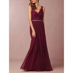 BHLDN lace tulle dress size 0